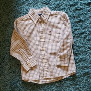 Tommy Hilfiger Toddler Boys Off White Button Down